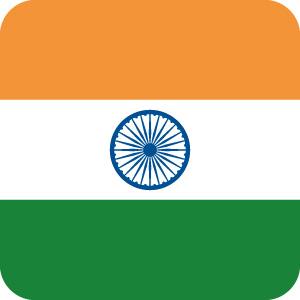 インドの国旗のアイコンマーク