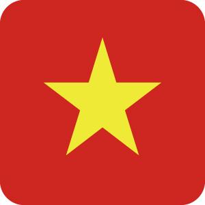 ベトナムの国旗のアイコンマーク
