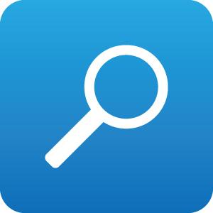 検索 虫眼鏡 ルーペ アイコンマーク