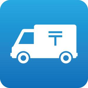 郵便トラックのアイコンマーク