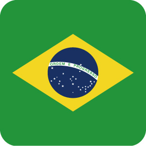 ブラジルの国旗のアイコンマーク