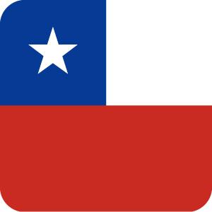 チリの国旗のアイコンマーク