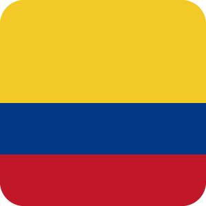 コロンビアの国旗のアイコンマーク