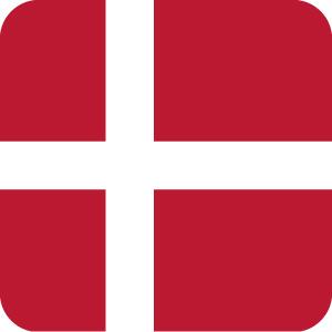 デンマークの国旗のアイコンマーク