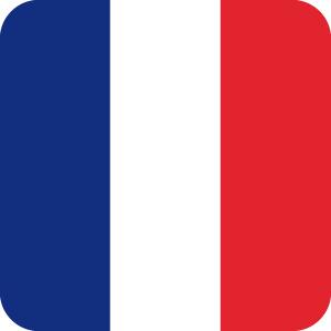 フランスの国旗 アイコンマーク