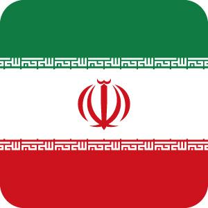 イランの国旗のアイコンマーク