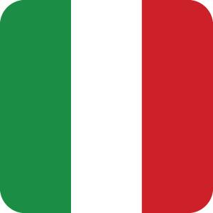 イタリアの国旗のアイコンマーク