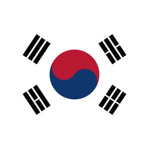 韓国の国旗のアイコンマーク