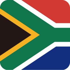 南アフリカの国旗のアイコンマーク