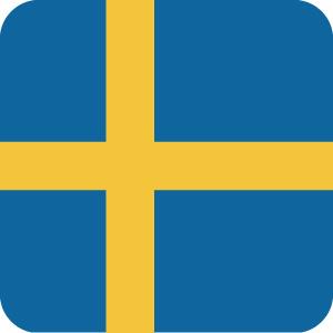 スウェーデンの国旗のアイコンマーク