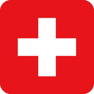 スイスの国旗のアイコンマーク
