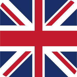 イギリスの国旗のアイコンマーク