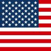 アメリカ・USAの国旗アイコンマーク